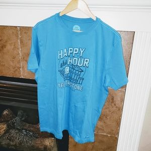 """LIFE IS GOOD """"HAPPY HOUR"""" YELLOWSTONE PARK T SHIRT"""